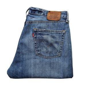 Levi's Men 514 Loose Straight Mid Rise Denim Jeans
